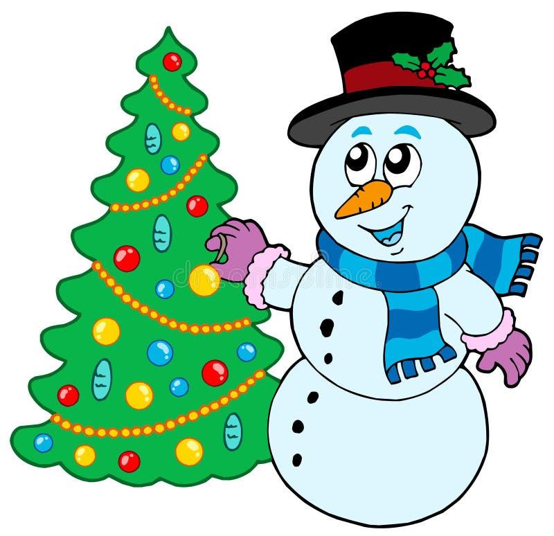 картинки мультяшного снеговика с елкой популярный способ подписать