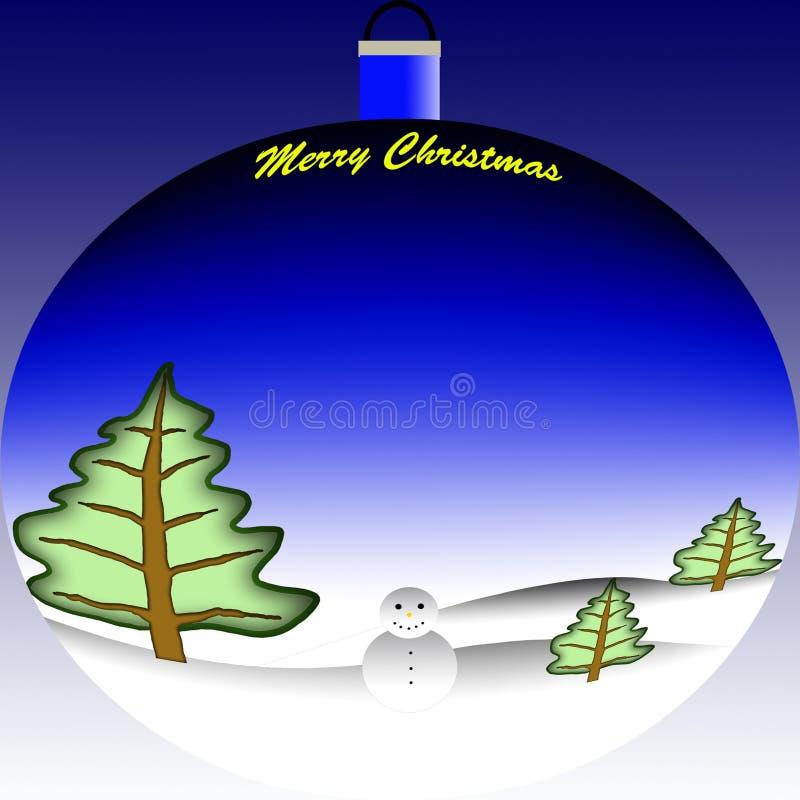 рождество шарика веселое стоковое изображение