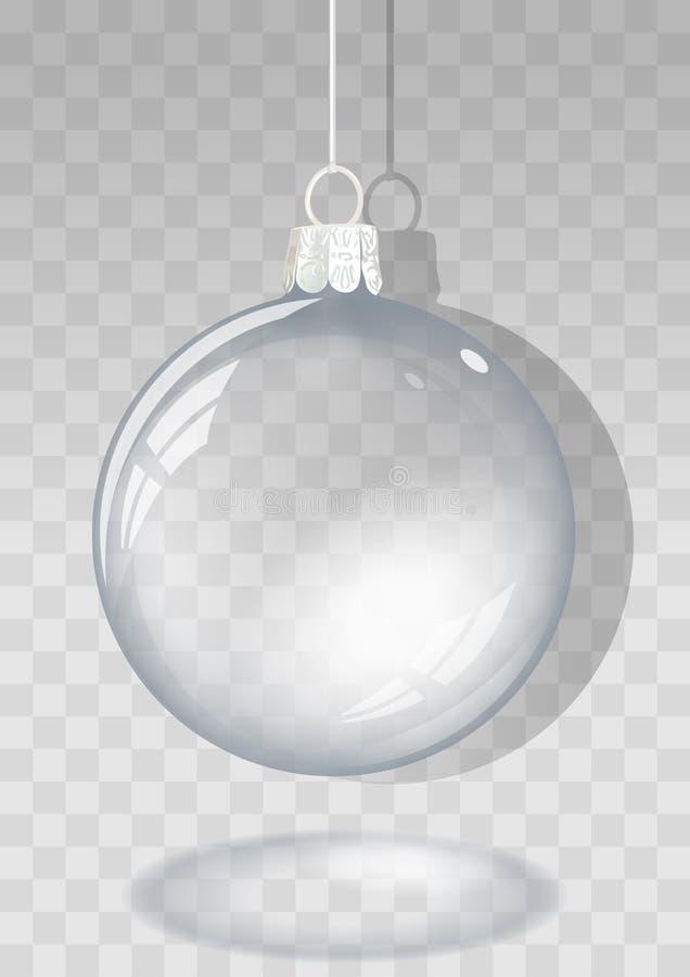 рождество шарика прозрачное бесплатная иллюстрация