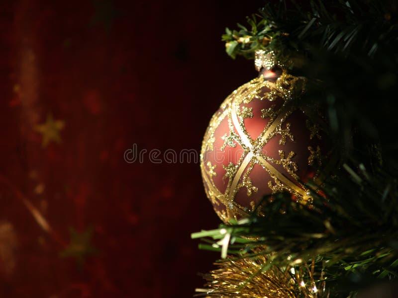 рождество шарика sunlit стоковые изображения rf
