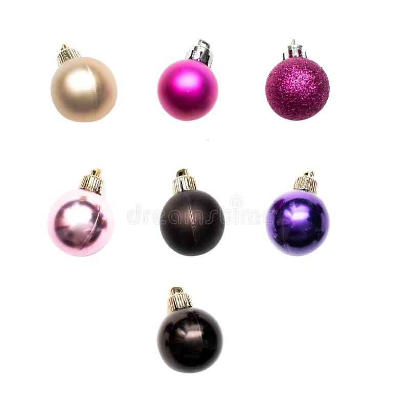 рождество шариков изолировало стоковые фото