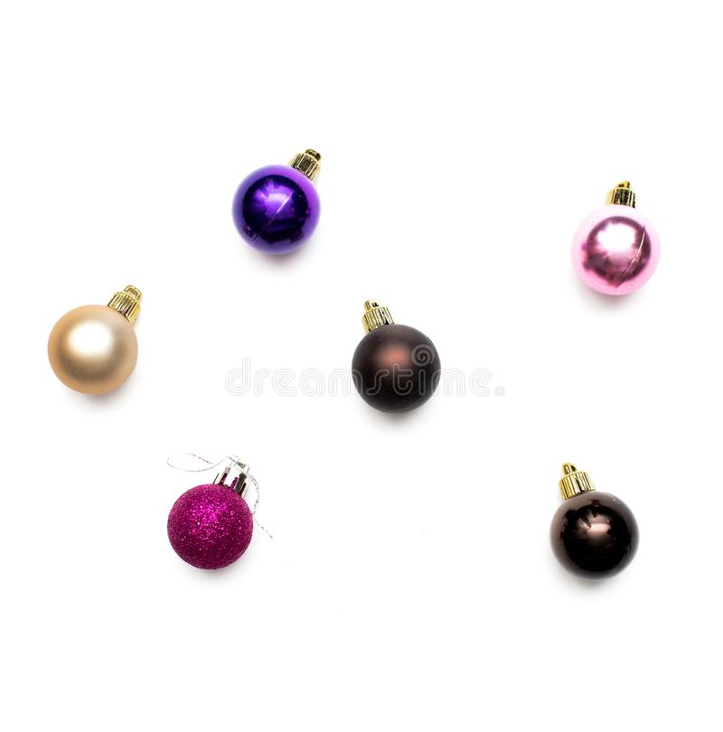рождество шариков изолировало стоковое фото rf