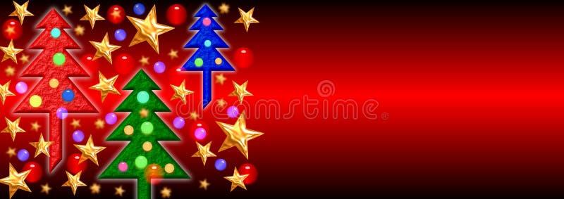 рождество 2 знамен иллюстрация вектора