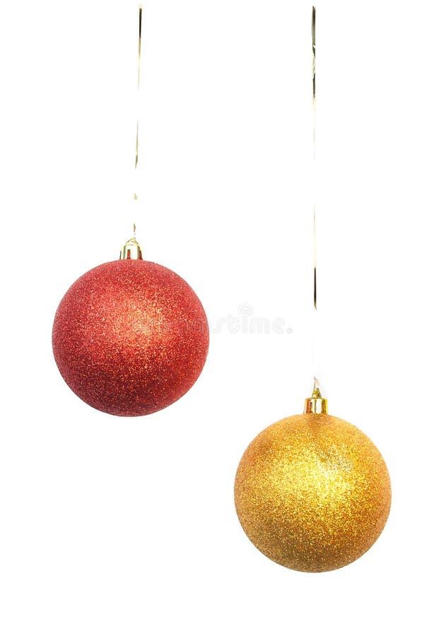 рождество 2 шариков яркое стоковое изображение
