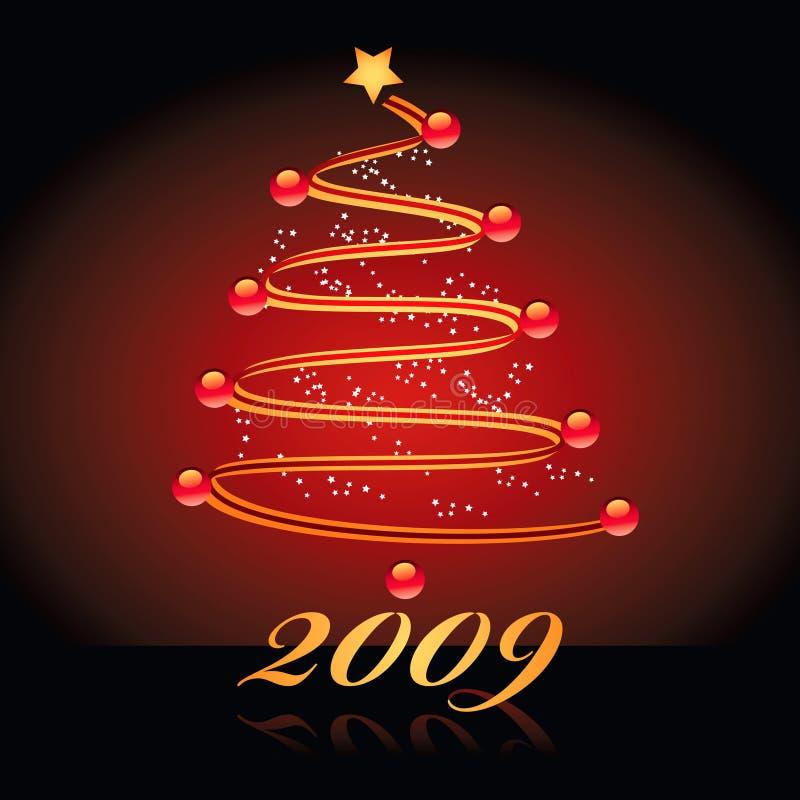 рождество 2009 предпосылки иллюстрация вектора