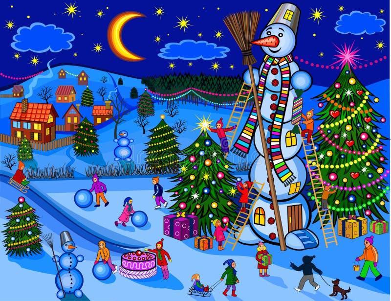 Рождество иллюстрация вектора