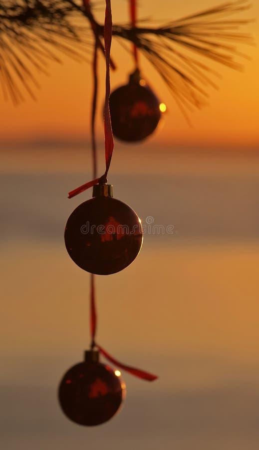 рождество 3 шариков стоковое фото