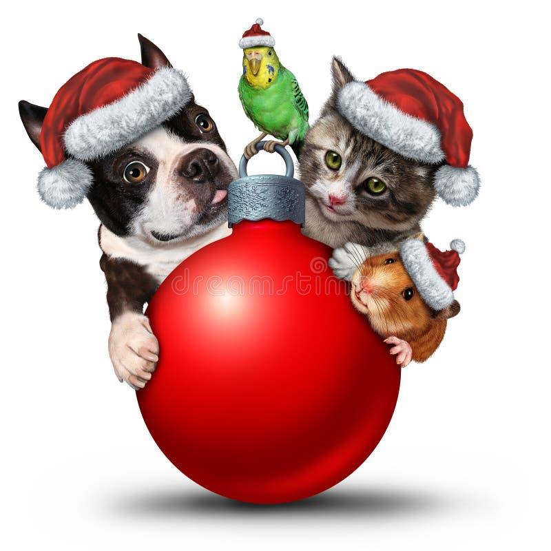 Рождество Pets украшение иллюстрация вектора