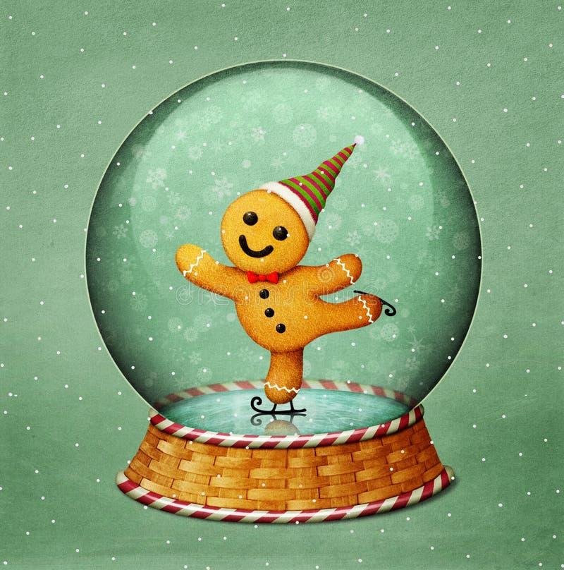 Рождество Snowglobe иллюстрация вектора