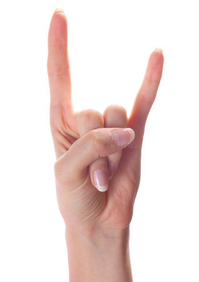 рожочки руки жеста стоковые изображения