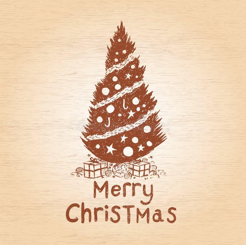 Рождественская елка вектора бесплатная иллюстрация