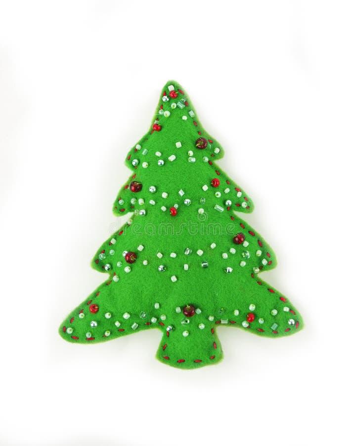 Рождественская елка войлока изолированная на белой предпосылке стоковые фото