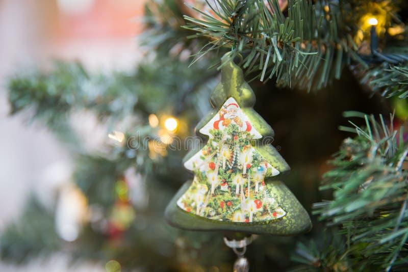Рождественская елка на рождественской елке стоковое изображение