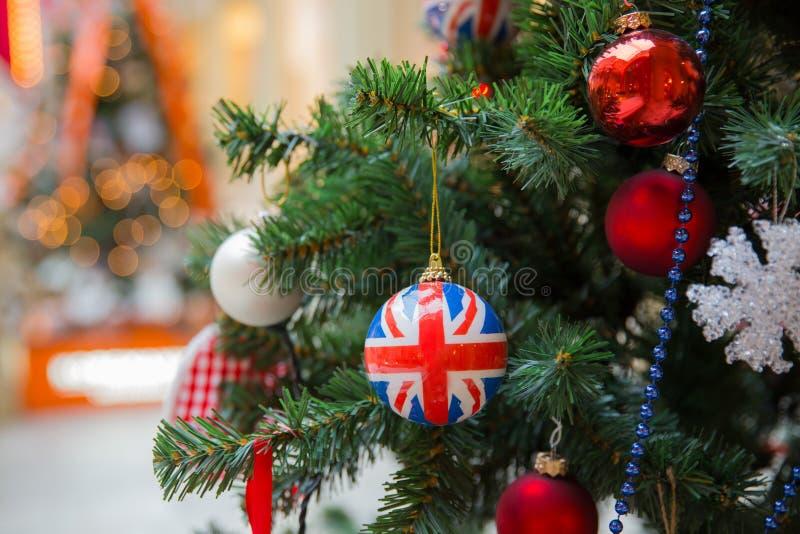 Рождественская елка стиля британцев стоковое изображение rf