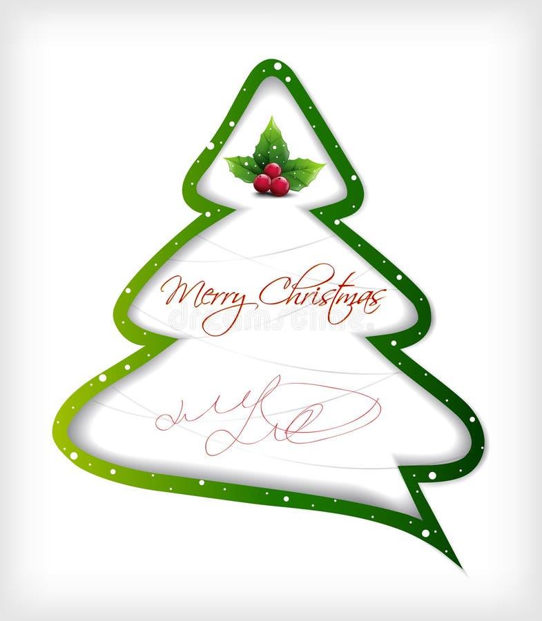 Рождественская елка шаржа. Вектор иллюстрация вектора