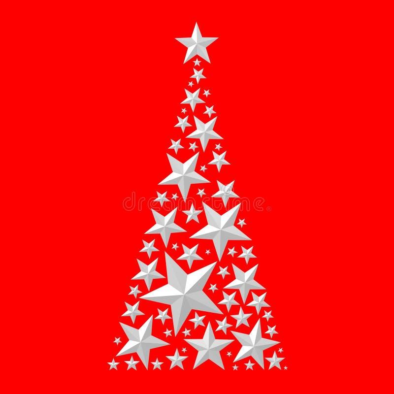 Download Рождественская открытка - дерево Christas Иллюстрация штока - иллюстрации насчитывающей конспектов, звезда: 81800449