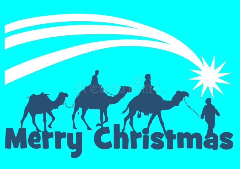 Рождественская открытка 3 королей бесплатная иллюстрация