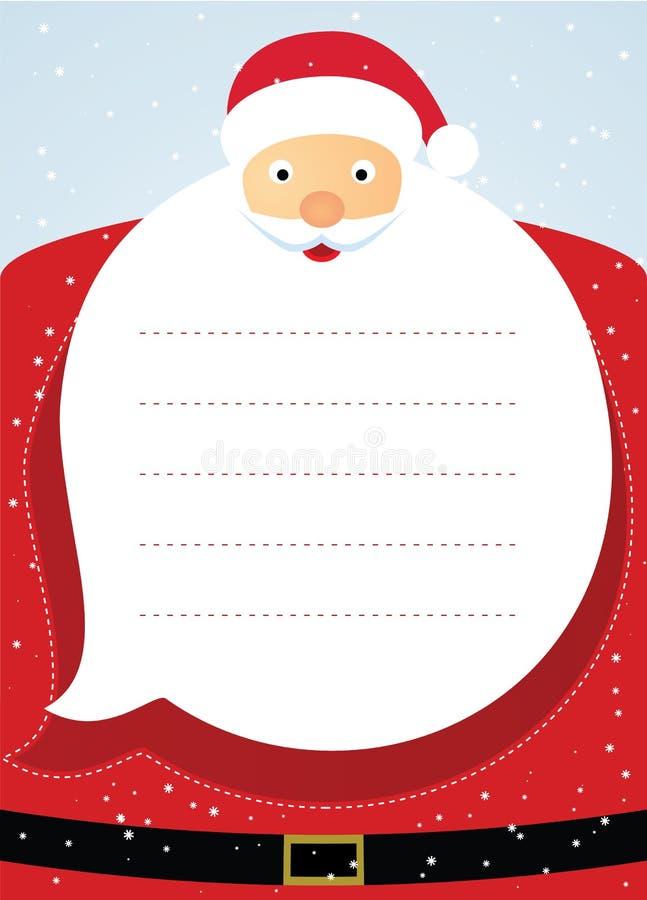 Рождественская открытка Санта Клауса. иллюстрация вектора