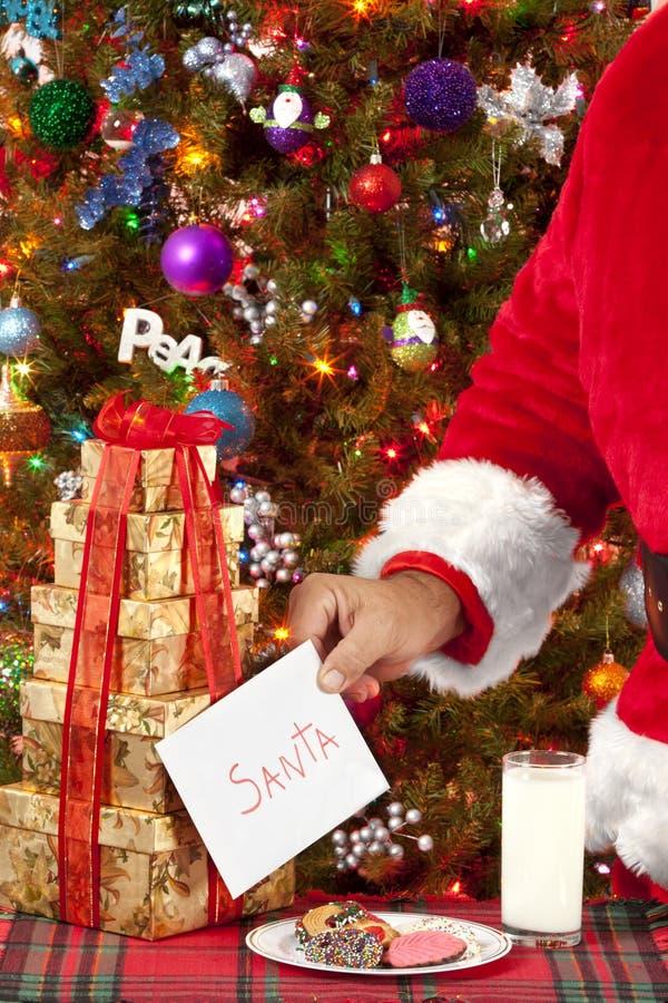 Рождественская открытка для Санты стоковое фото rf