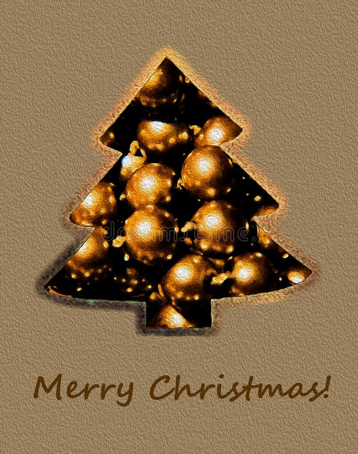 Рождественская открытка стоковая фотография