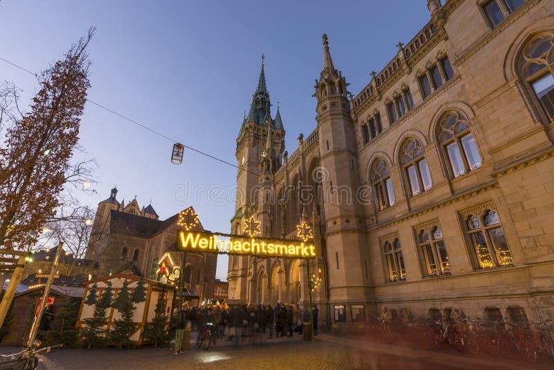 Рождественская ярмарка в Брауншвейге стоковые изображения