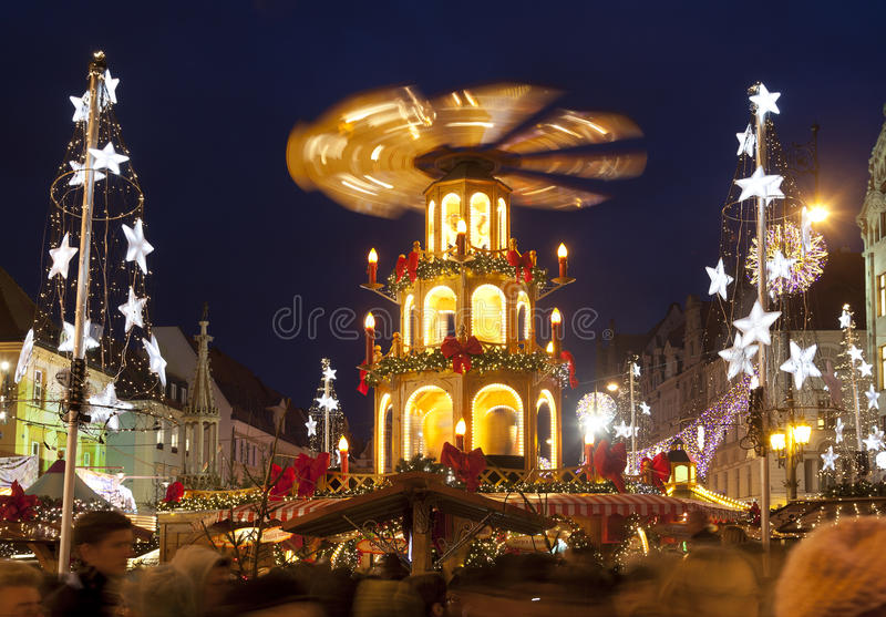 Рождественская ярмарка, город wroclaw европейский культуры 2016 стоковая фотография rf