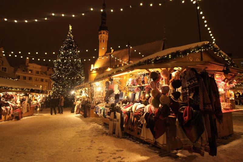 Рождественская ярмарка Таллина стоковое фото rf