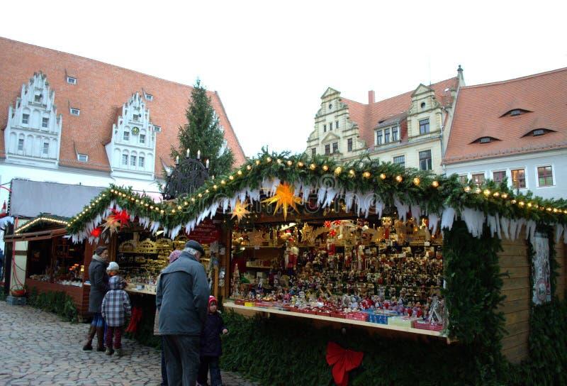 Рождественская ярмарка Meissen Германия стоковые фотографии rf