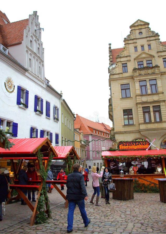 Рождественская ярмарка Meissen Германия стоковые фото