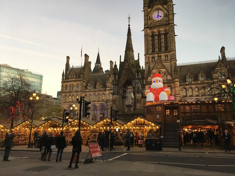 Рождественские ярмарки Манчестера стоковые фотографии rf