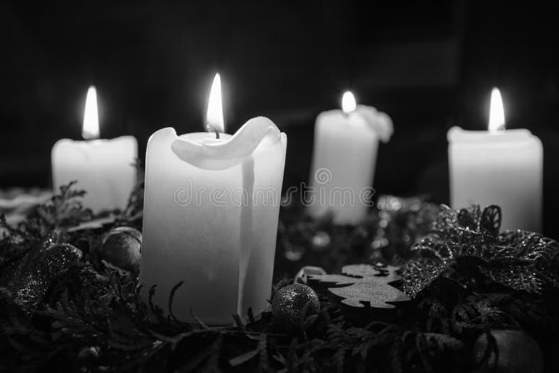 Рождество, венок пришествия стоковое изображение rf