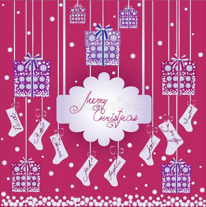 рождество веселое Подарки иллюстрация штока