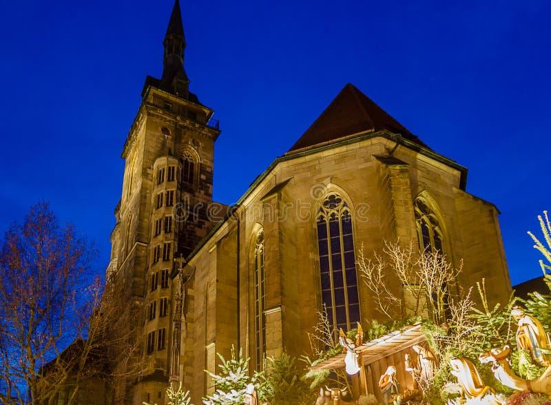 Рождество вокруг Stiftskirche (2) стоковые изображения rf