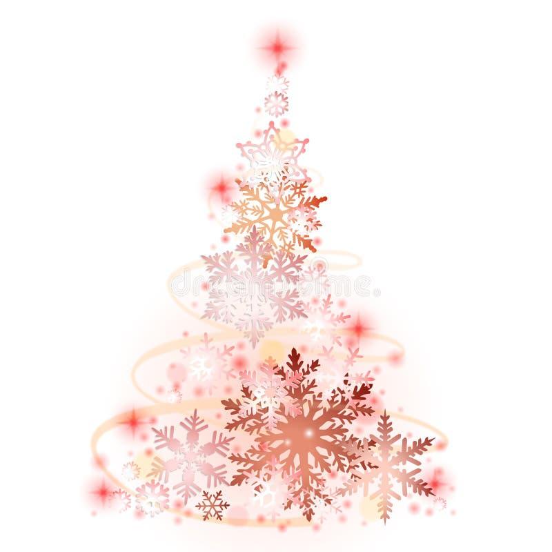 рождество вьюги рисует вал снежинок шерсти влияния который иллюстрация штока