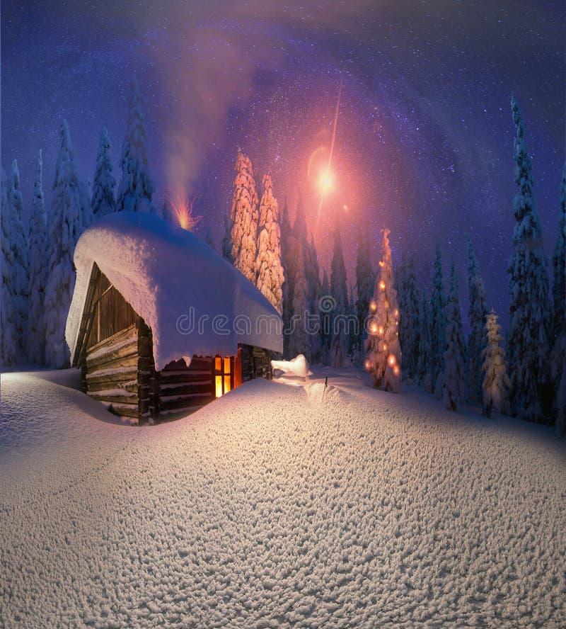 Рождество в Карпатах бесплатная иллюстрация