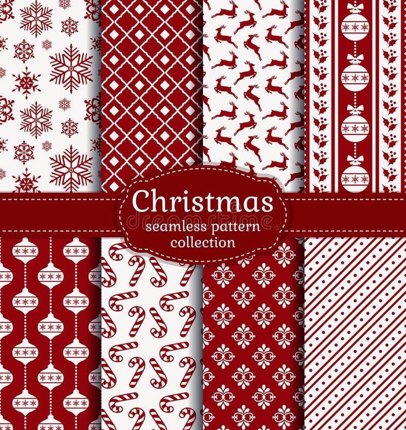рождество делает по образцу безшовное вектор комплекта сердец шаржа приполюсный иллюстрация штока