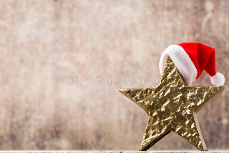 Рождество играет главные роли шляпа santa Картина рождества Предпосылка на стоковое фото rf