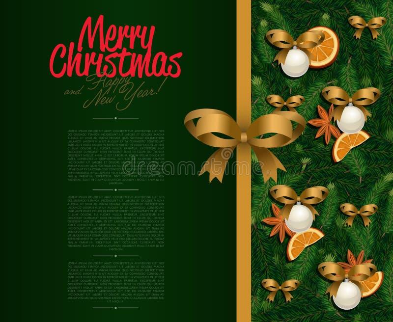 рождество карточки приветствуя счастливое веселое Новый Год бесплатная иллюстрация
