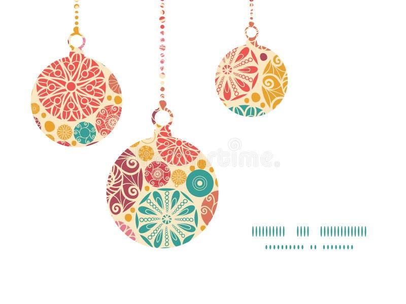 Рождество кругов вектора абстрактное декоративное иллюстрация штока