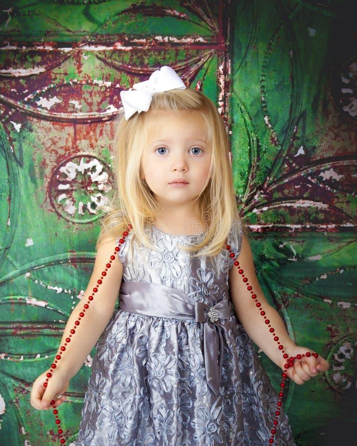 Рождество маленькой девочки стоковые изображения rf
