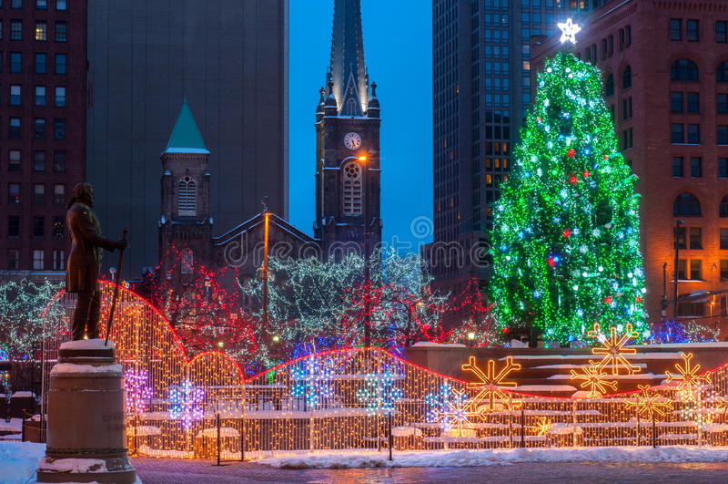 Рождество на квадрате стоковое фото rf