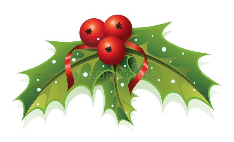 Рождество падуба иллюстрация вектора