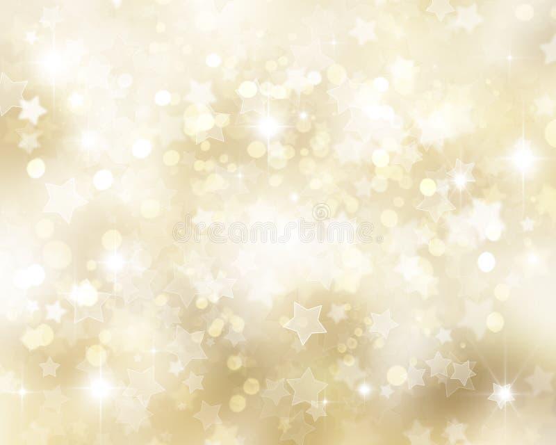 рождество предпосылки золотистое иллюстрация штока
