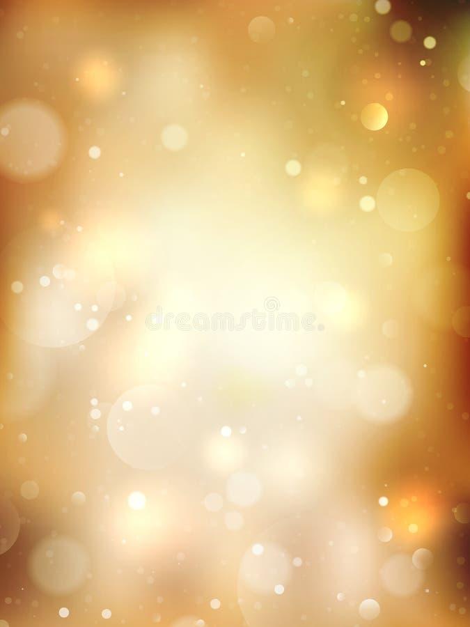 рождество предпосылки золотистое 10 eps иллюстрация вектора