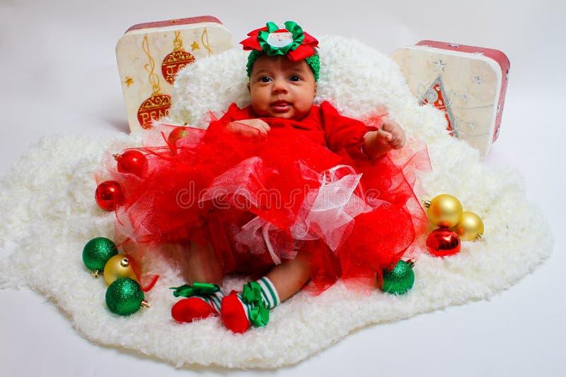 рождество предпосылки младенца изолированное над белизной стоковые фото