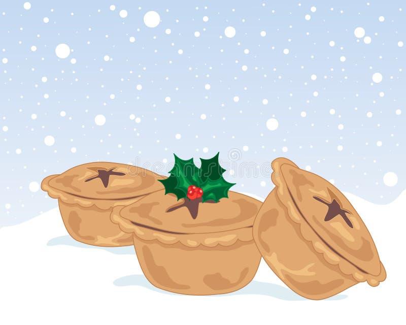 Рождество семенит пироги бесплатная иллюстрация