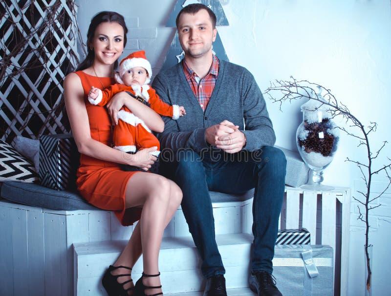 Рождество семьи ждать стоковая фотография rf