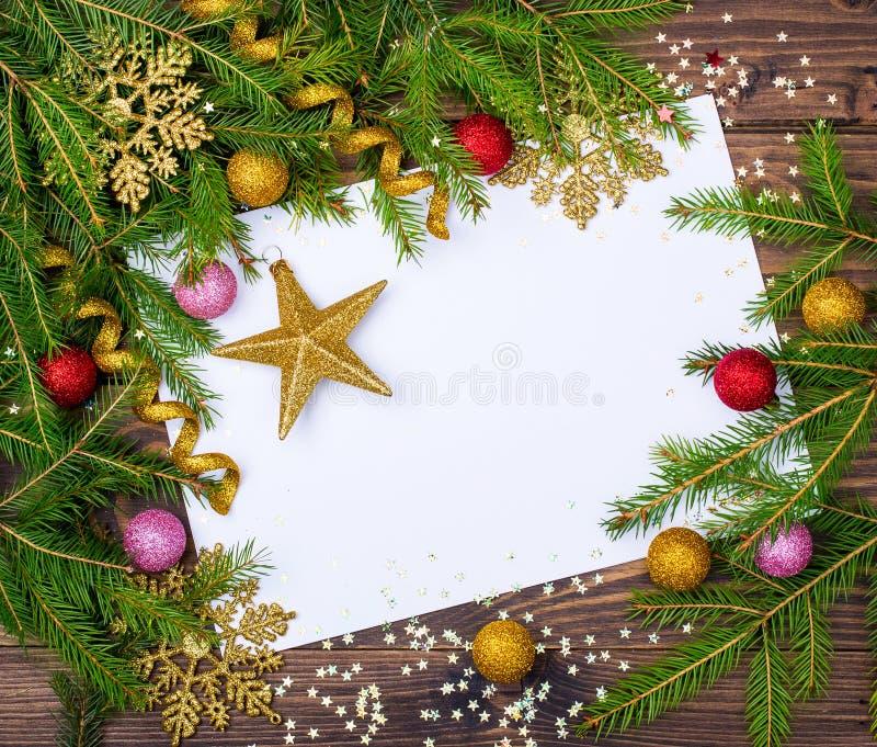 Рождество украсило предпосылку стоковое изображение