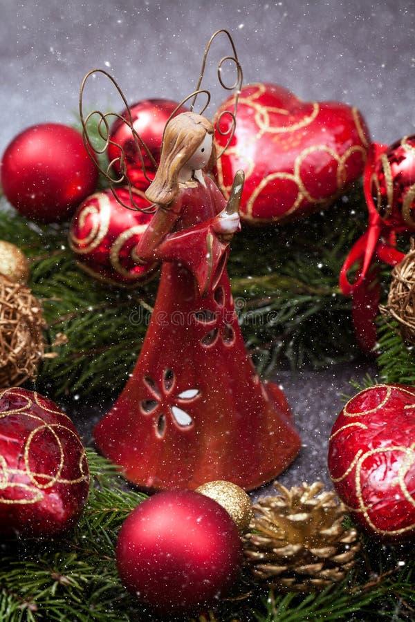 рождество украшает идеи украшения свежие домашние к иллюстрация вектора