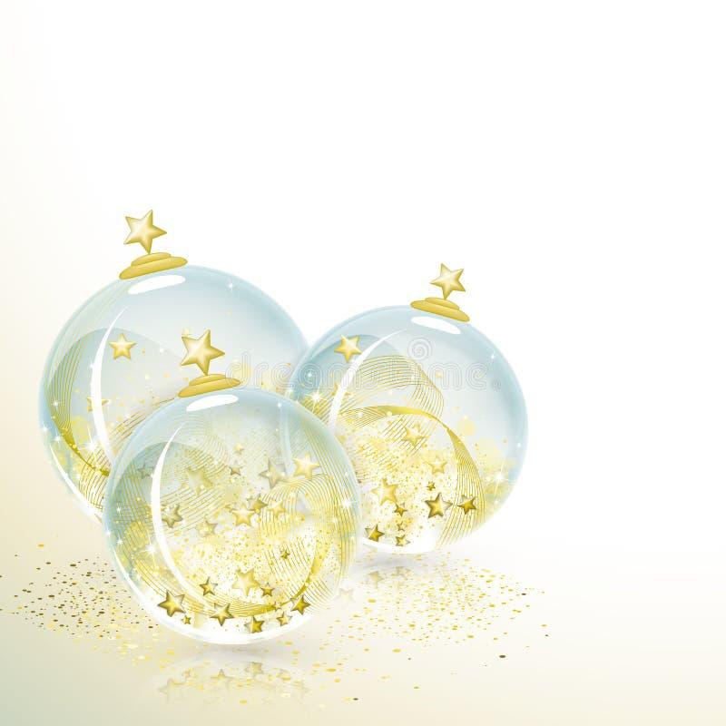 рождество 3 шариков иллюстрация штока